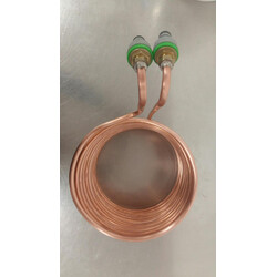 Copper Wort Chiller with Hose Fittings